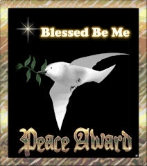 Tarot Readings won Blessed Be Me's Peace Award award